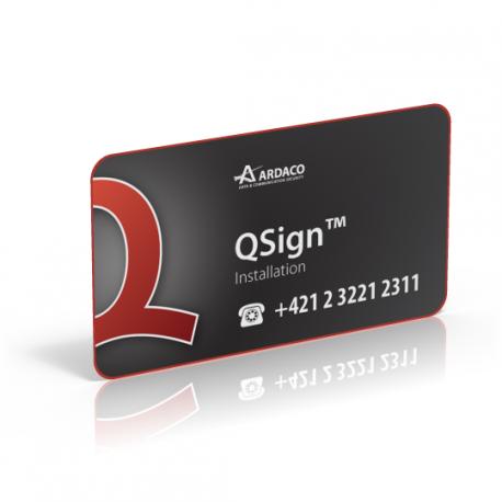 QSign Inštalácia